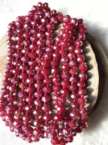 Wine Point of Perfection Beaded Necklace