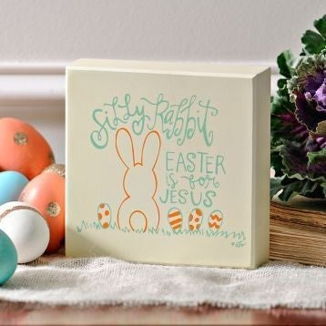 Easter Is For Jesus Box Sign