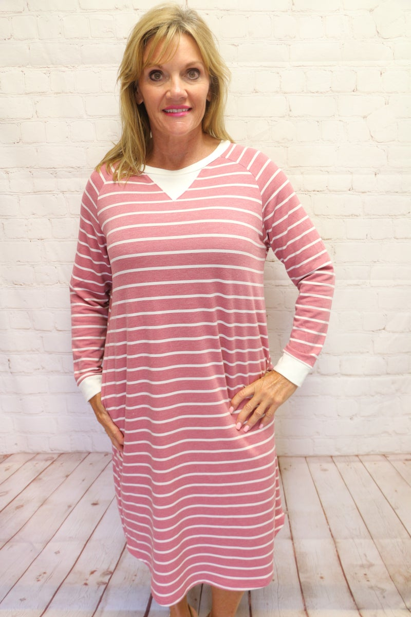 Sporty, Flirty and Fun Striped Dress in Multiple Colors - Sizes 4-20