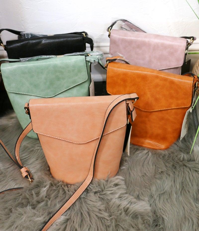 She's The One Snakeskin Bucket Crossbody Bag In Multiple Colors