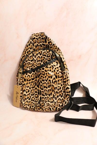 Falling for You Leopard Sling Bag