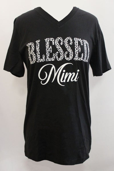Blessed Mimi Cheetah Graphic Tee In Black - Sizes 4-18