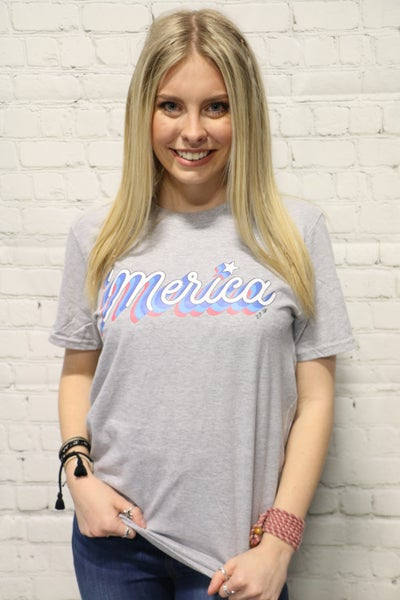 ***PRE-ORDER*** 'Merica Graphic Tee In Multiple Colors - Sizes 4-20