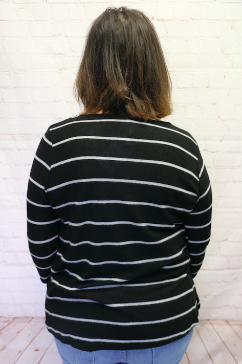 Take My Hand Super Soft Striped Top With Twist Hem- Sizes 4-10