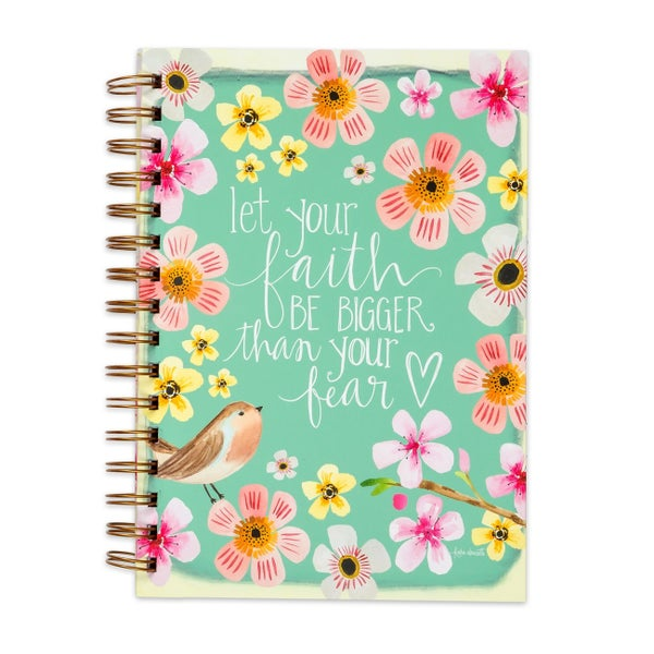 Let Your Faith Be Bigger Than Your Fear Lined Journal