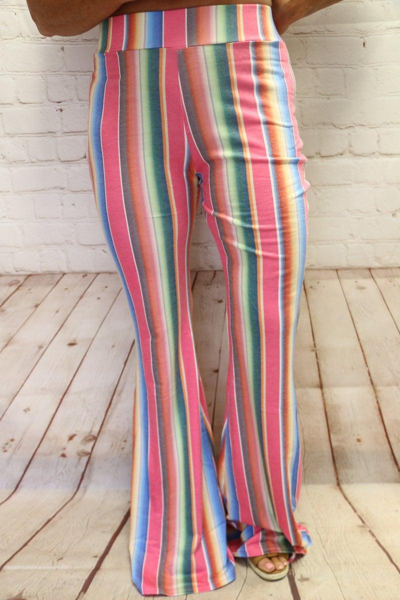 Walk the Line Serape Flare Pant - Sizes 4-20