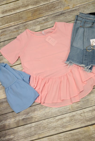 Saturday In The Park Ruffle Detailed Top in Multiple Colors - Sizes 4-10