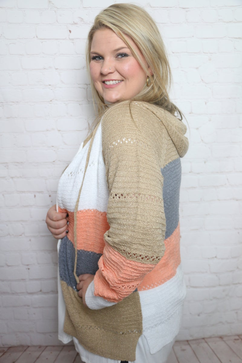 Never Let You Go Knit Hoodie in Multiple Colors - Sizes 4-18