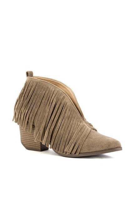 Notice Me Fringe Bootie in Multiple Colors - Sizes 5.5-10