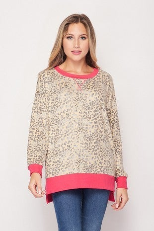 The All Time Favorite Leopard Top with Hot Pink Accents - Sizes 4-20