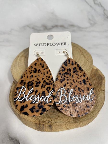 Faithful Heart Leopard Tear Drop Earring in Multiple Options