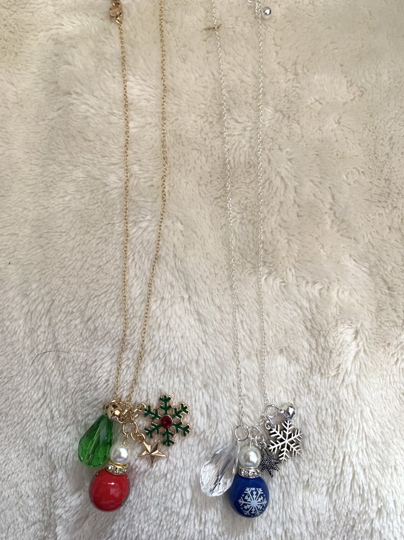 Season's Best Short Necklace With Ornament Pendant And Charms In Multiple Colors