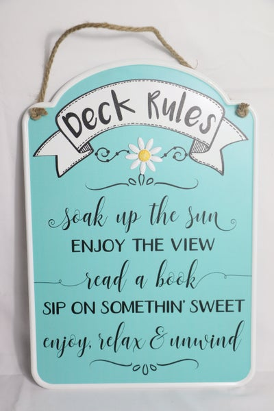 Rules For Life Metal Porch Signs In Multiple Sayings