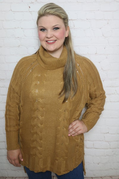 Making a Way Oversized Turtle Neck Sweater in Multiple Colors - One Size Fits Most