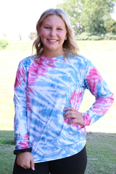 Wander No More Tie-Dye Long Sleeve Top - Sizes 4-20
