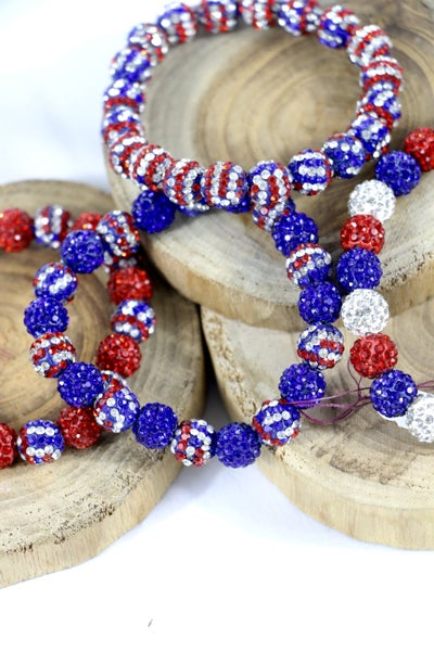 American Pride Shimmer And Shine Bracelets in Multiple Colors