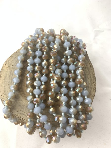 Sandy Beach Point Of Perfection Beaded Necklace