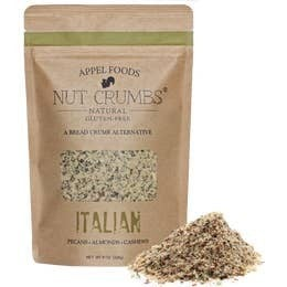 Nut Crumbs All Natural Gluten Free Bread Crumb Alternative in Multiple Flavors - 8 OZ Bag