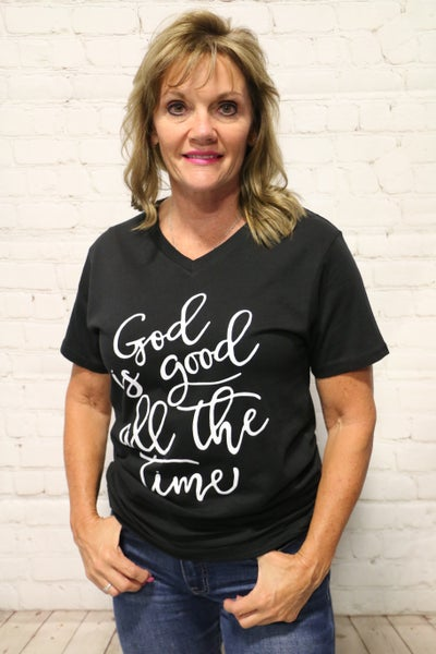 God Is So Good All The Time Tee in Multiple Colors - Sizes 4-18