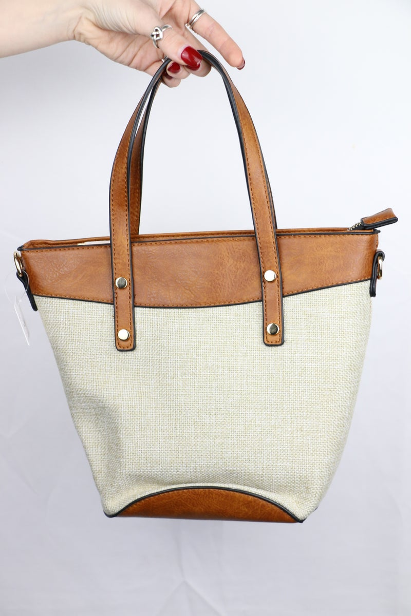 A Taste Of Summer 2 Tone Straw Handle Bag In Multiple Colors