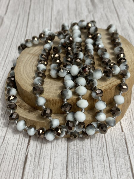 Dalmatian Point Of Perfection Beaded Necklace