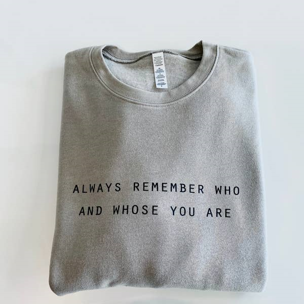 Always Remember Taupe Sweat Shirt - Sizes 4-18