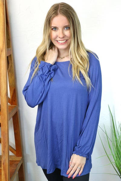 Trust the Process Flowy Blue Tunic - Sizes 4-20