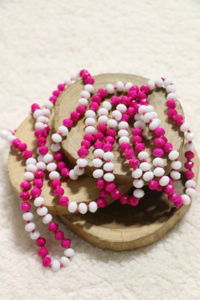 Magenta Melody Point Of Perfection Beaded Necklace