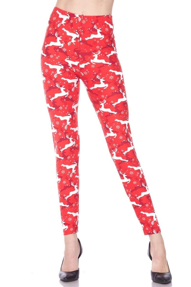 Santa's Helper Red Christmas Legging - Sizes 4-20