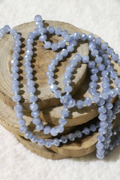 Blue Gray Point Of Perfection Beaded Necklace
