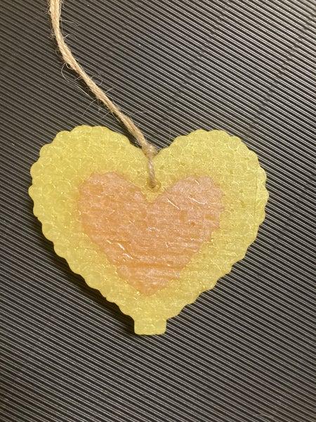 Love Spell Valentine Car Freshie with Jute