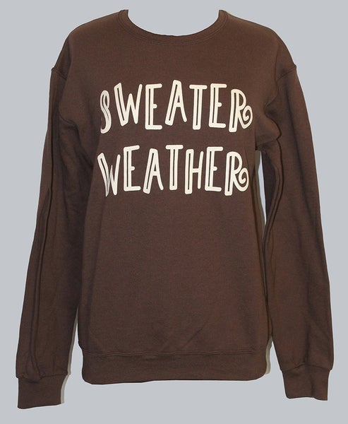 Sweater Weather Chocolate Oversized Sweatshirt ***PREORDER***- Sizes 4-20