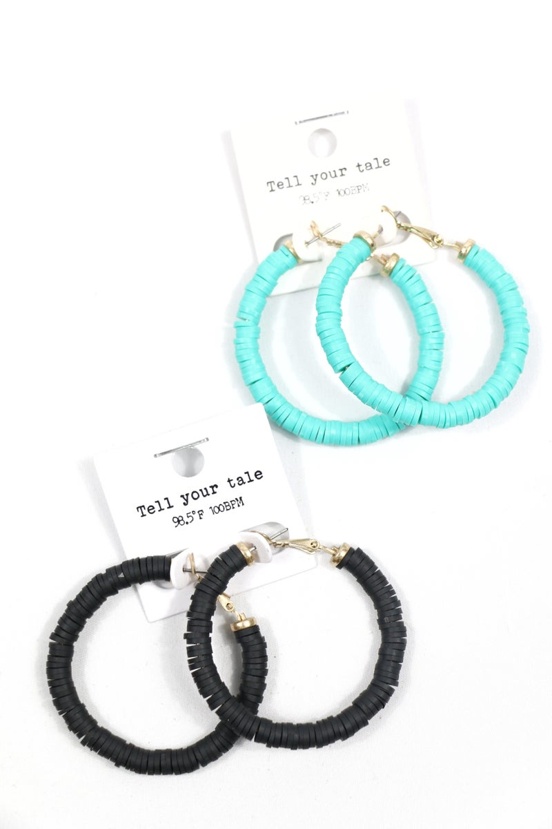 More Than Ever Rubber Disc Hoop Earring In Multiple Colors