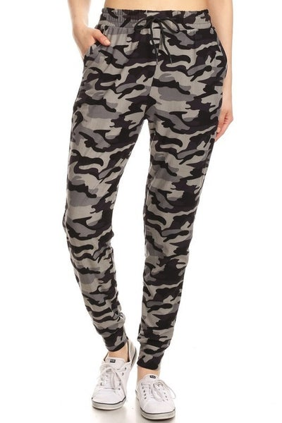 Lost Together Gray Camo Printed Joggers - Sizes 4 - 20