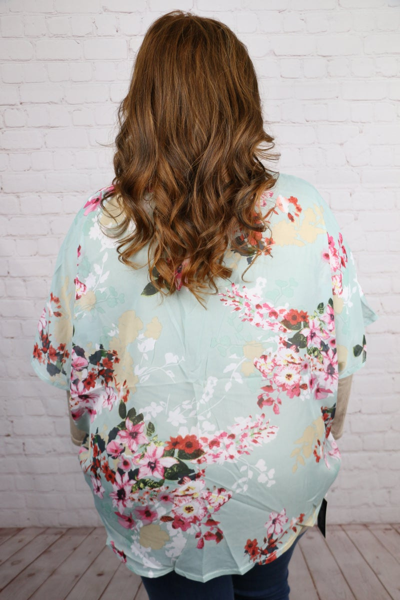 Wishful Thinking Floral Short Kimono in Multiple Colors - One Size