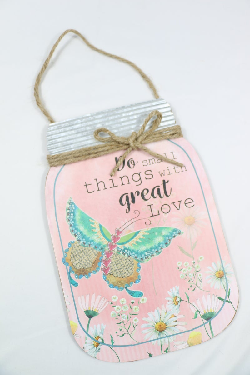 Spring Themed Mason Jar Wall Hanging in Multiple Colors