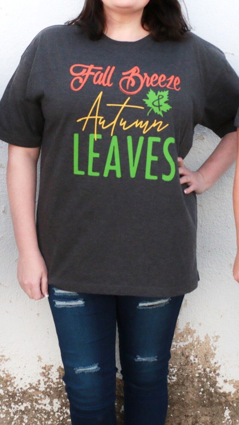 *PRE-ORDER*Fall Breeze & Autumn Leaves Graphic Tee Sizes 4-20 *Final Sale*