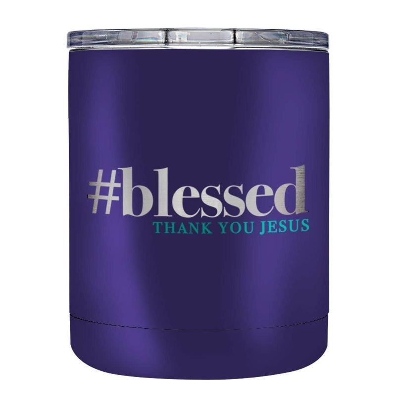 #blessed, Thank You Jesus Stainless Steel Tumbler with Lid