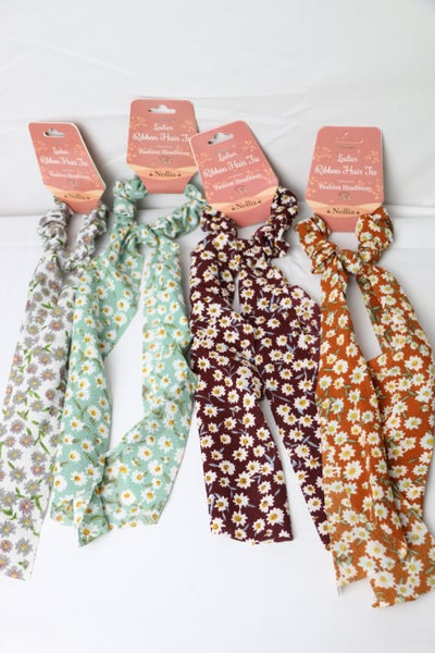 Hope Floats Floral Scrunchie Tie In Multiple Colors