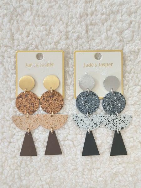 Always Metal Cork Look Multi Shape Earring In Multiple Colors