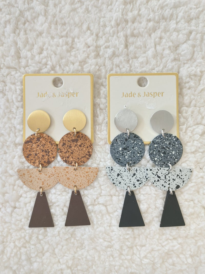 Always Metal Cork Look Multi Shape Earring In Multiple Colors