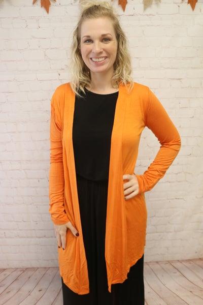 Feelin' Like Fall Basic Long Sleeve Cardigan In Multiple Colors- Sizes 4-20