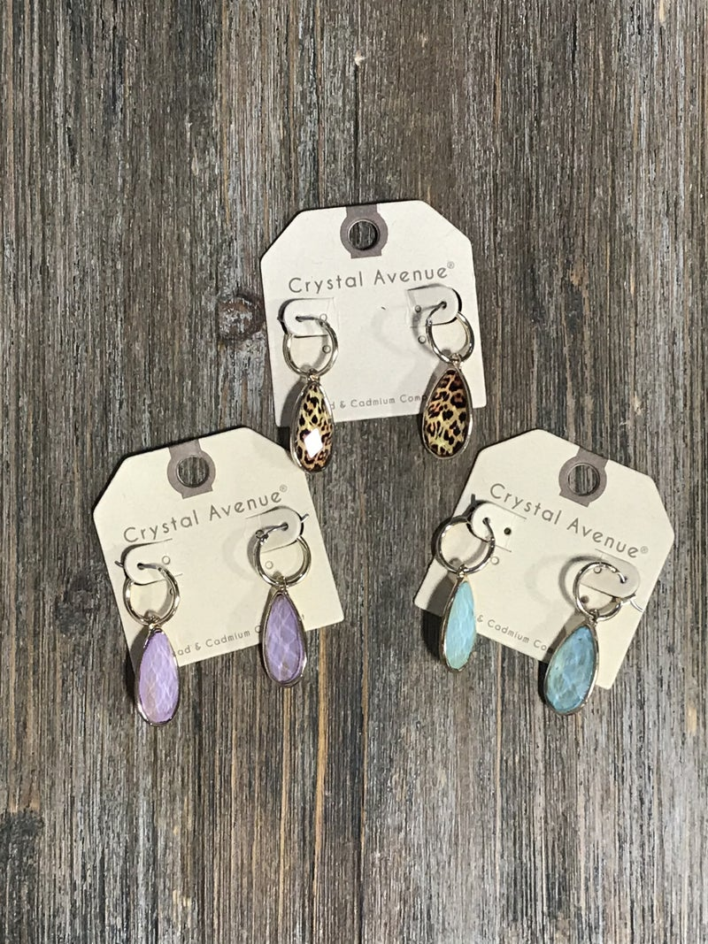 Drop Earrings in Multiple Colors