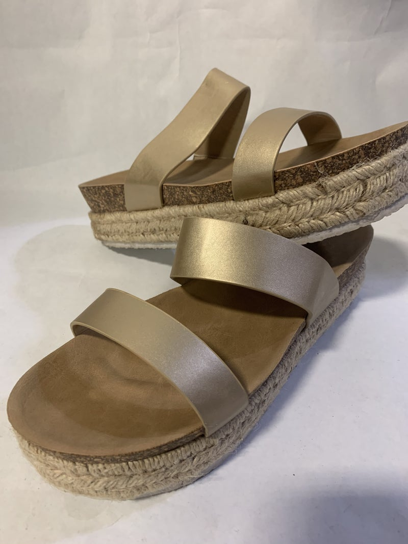 Gold Espadrille Sale Shoe- Size 10