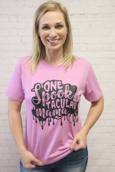 One Spooktacular Mama Graphic Tee in Multiple Colors - Sizes 4-20