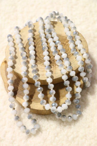 Shades of Gray Point Of Perfection Beaded Necklace