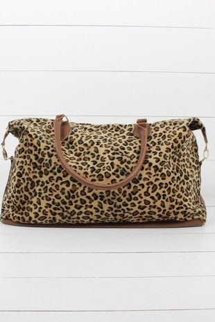 Wish I Could Stay Leopard Weekend Tote