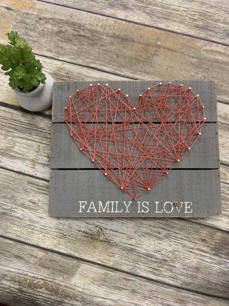 Family Is Love String Art Decor