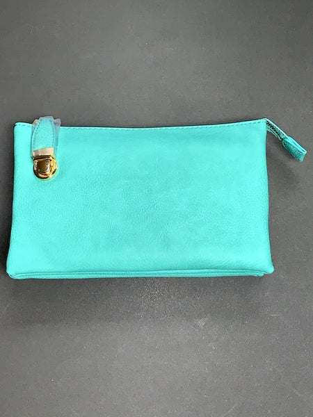 All For Myself Clutch/ Crossbody With Gold Clasp In Multiple Colors