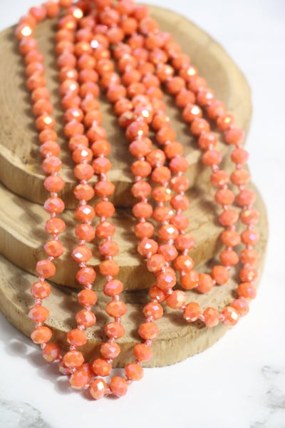 Shrimp Point Of Perfection Beaded Necklace
